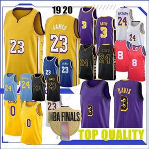 LeBron James 23 Basketball Jerseys BRYANT Anthony Kyle Davis Kuzma 8 Homens Crianças Johnson Los AngelesLakersKobe24
