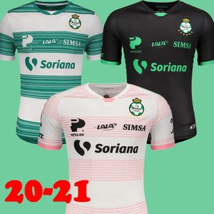 20 21 Santos Laguna سرطان الثدي الوعي الوردي كرة القدم الفانيلة 2020 2021 سانتوس المنزل الأخضر بعيدا الأسود لكرة القدم قمصان dhl سفينة حجم S-XXL