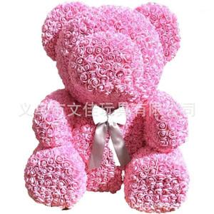 70см розовый розовый плюшевый мишка розовый цветок искусственные украшения рождественские подарки женщины валентинок подарок1