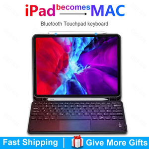 Teclado TouchPad para iPad 10.9 10.2 Capa Para Apple IPAD 2017 2018 Air 4 3 2 Pro 9.7 10.5 11 2019 2020 8th Funda capa teclado