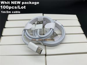 DHL 100pcs / lot 7 세대 1m / 3ft 케이블 USB 전화 케이블 7 8 x 고품질 USB 데이터 포장없이 고품질 USB 데이터 동기화 충전 전화 케이블