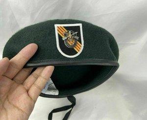 베트남 전쟁 NEW US ARMY 5 회 SOCOM 4 GROUP GREEN BERET HAT 모직 모자 CAP