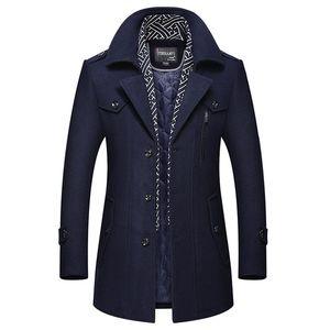 Erkekler Tasarımcı Kış Yün Uzun Hendek Coats Erkek Kalın Sıcak Yün Karışımları Yün Bezelye Coat Eşarp Dekorasyon Erkek Trençkot Palto 4XL