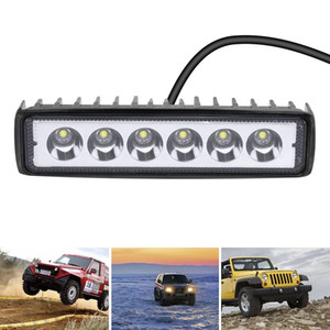 US Stock 5.9ft 18W Spot LED Work Light Lamp for ATV Jeep Tractor off Road Light Fog Driving Bar for Truck Car