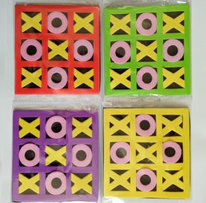 Freeshipping NEW 4X 6X 12X 24X EVA TIC TAC TOE children kids intelligence game toy party favors gifts bag pinata stock filler