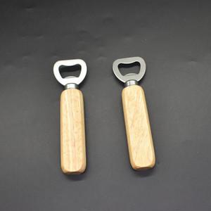 Poignée en bois classique Poignée de bière Ouvre-bouteille en acier inoxydable bois véritable outil de cuisine forte outil de bouteille en bois EWB1432