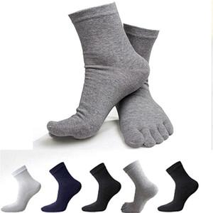 2020 New Mens Socks Cotton Five 5 Finger Toe Shoes Socks Business Casual Sports Men's