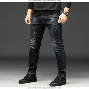 Jeans Pants for Men Casual Autumn and Wnter New Black Blue Fashion Jeans Men's Long Pants Asain Size 28-36