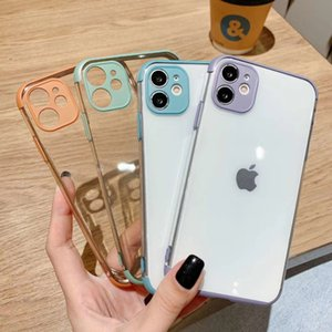 Macaron series HD transparent TPU soft case for iPhone 12 11 ProMAX 7 8Plus X XR XS MAX 11Pro 360 degree full protection phone case