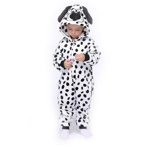 Dalmatians Kids Kigurumis Onesie Pajamas Suit Sleepwear Cartoon Girl Boy Party Homewear Onepiece Children Costume Clothing 201104