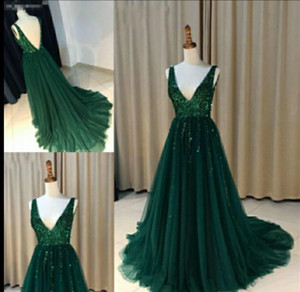 Dark Green Prom Dresses 2021 Formal Evening Party Pageant Gowns Special Occasion Dress Dubai 2k21 Black Girl Couple Day Backless