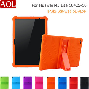 Silicon Case For Huawei MediaPad M5 Lite 10 Inch BAH2-L09 W19 DL-AL09 Tablet Stand Cover For Mediapad M5 LITE10 C5 10 Soft Case