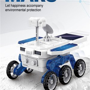 Free shipping children's DIY solar planet rover toy self-assembled STEM puzzle science and education assembly model