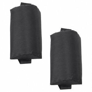 2X pieghevole Sling Lounge Chairs Black Head cuscino Per esterni Sdraio da spiaggia cDOD #