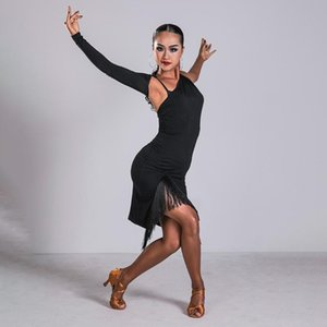 New Tango Salsa Tassel femmes Cha Cha Salle de bal pratique Wear Sexy Latin Dance Dress Rumba Samba Performance Costume Robes