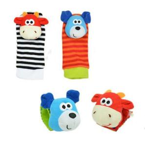 아기 장난감 양말 Sozzy 아기 유아 장난감 소프트 핸드벨 아기 귀여운 만화 동물 양말 줍는 인형 장난감 크리스마스 선물 YHM102-1를 흔들 수