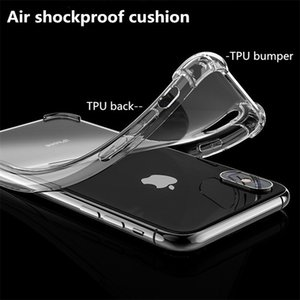 High transparent TPU Phone Case With air shockproof cushion For iPhone 12 11 Pro MAX X XR X SE 5 6 7 8 Plus BACK cover phone case