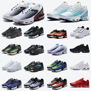 2021 En Kaliteli Açık Havada III TN Artı 3 Erkek Eğitmenler Degrade Paketi TN 3 Koşu Ayakkabıları Lazer Mavi Örümcek Üçlü Siyah Bayan Sneakers