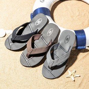 Nidengbao Flip Flobs Men Summer Beach Sandals Big Tamaño 40-48 Black Man Shoes Zapatos antideslizantes Zapatos de Hombre Chaussure # LT0W