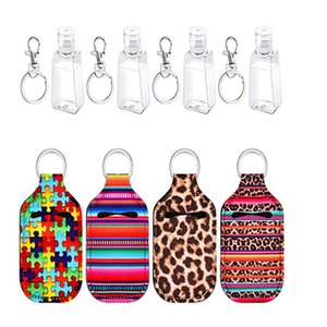 Keychain Hand Sanitizer Flaschenhalter Chapstick Halter Handseife Flaschenhalter Printed Lippenstift-Halter-Schlüsselring-Partei-Bevorzugung