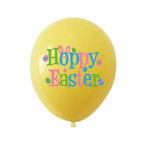 Felice palloncini di Pasqua 12 pollici Gomma Pasqua coniglietto stampato Palloncini in lattice Pasqua Home Party Decor Bambini Balloon HHA3519