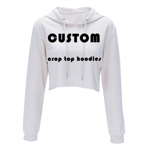 custom made womens tops Fashion Casual Loose Punk Hooded Hoodie Long Sleeve Stylish Crop Top harajuku Thin Sweatshirt plus size