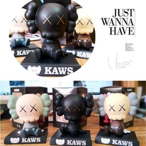 HOT 12CM Originalfake KAWS Companion Original 0.2KG Action Figure Have a spring of Shake your head Doll Car Display Desktop Decoration Gift