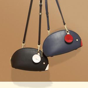 Çanta Kadın Yeni Tasarım Oynak Küçük Fare Crescent Moon Çantası Bayanlar Moda Hit Renk Omuz Eğik Çapraz Çanta Gelgit Toptan 9337