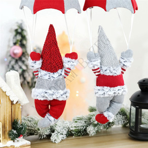 Christmas Faceless Doll Gnome Santa Xmas Tree Hanging Ornament Doll Decoration For Home Pendant Gifts Drop Ornaments Party Supplies EEC2724