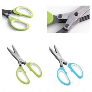 Stainless Steel 5 Layers Scissor Kitchen Accessories Multi Function Scallion Shredded Scissors Shears Home Cooking Tools Clippers 5 5lt G2