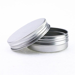 40ml Empty Refillable Aluminum Jars 40g Silver Metal Tin Cosmetic Containers Crafts Packaging Small Aluminum Box WB3294