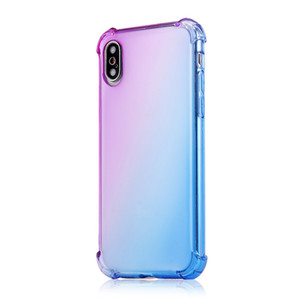 Grandient TPU Case Phone Cases Gradient Colors Anti Shock Airbag Clear Cases For iPhone 12 Mini 11 Pro Max XS 8 7Plus 6S Free Shipped