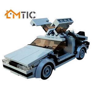 MOC Delorean From Movie BACK TO THE FUTURE In Minifig Scale Building Blocks Diy 214pcs Bricks Educational Christmas Gift For Kid C0119