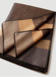 140*185cm 100% Wool Cashmere Blanket Shawl Soft Pashmina Blanket Protable Winter Striped Jacquard Wool Blanket Shawl