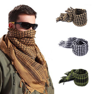 New Lightweight Tassel Arab Desert Shemagh KeffIyeh Scarf Wrap Worthy Checked men mufflers1