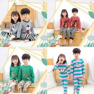 Children Pajamas Suit Boy Girl Zebra Crocodile Pattern Leisure Wear Set Autumn And Winter Clothes Trousers 27yw J2