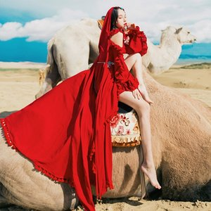 deserto KpnTc vermelho longo da mulher saia longa costumeexotic antiga saia fa vestido noroeste viagem roupa Photo Costume antigo ocidental Super Co