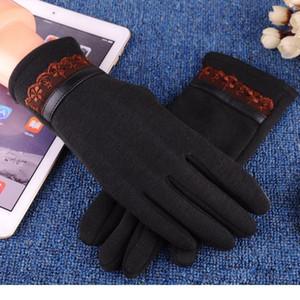 Fashion Elegant Women Touch Screen Screen Guanti inverno caldo guanti da polso per guidare all'aperto inquinamento solido cashmere finge finge finge jllfkj