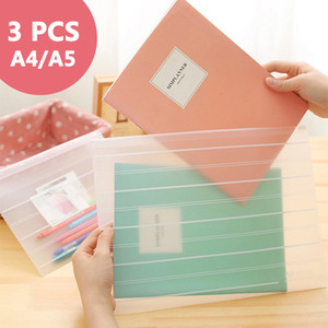 10 pcs lot Thicken folder Transparent file bag office organizers PP Document organizer File folder A4&A5