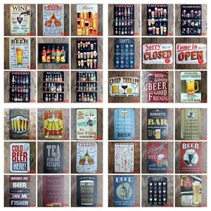 Bar Metal Tin Sign Beer Wine Metal Poster Vintage Craft Art Sticker Iron Painting Home Restaurant Decoration Pub Signs Wall Decor BEE1429