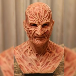 Adulto Halloween Realistic Mask Horror Party Costume Freddy Krueger Scary Carnival Cosplay decorazione della casa