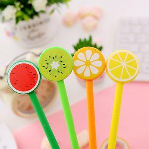 레몬 과일 볼펜 창조적 인 젤 펜 만화 볼펜 과일 및 야채 모양 볼펜 AHD2198