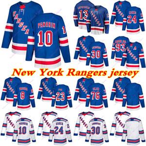 Guardabosques de Nueva York jerseys 10 Artemi Panarin 24 Kaapo Kakko 13 Alexis Lafreniere 93 Mika Zibanejad Personalizar cualquier número de cualquier maillot nombre de hockey