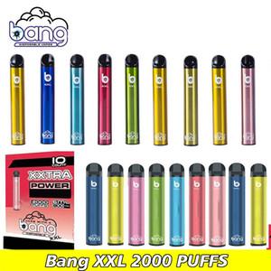 Bang XXL Tek vape 2000 puflar Prefilled Cihaz bölmeleri Yerel Tek Vape Kalem atılabilir e sigaralar