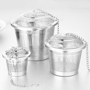 Stainless Steel Tea Infuser Reusable Mesh Tea Strainer Fine Teapot Leaf Spice Coffee Filter Drinkware Kitchen Accessories S M L
