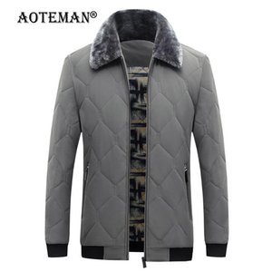 Men Bomber Jackets Winter Overalls Coat Plaid Male Parkas Warm Solid Fashion Thick Outwear Windbreaker Casual Men Clothing LM265