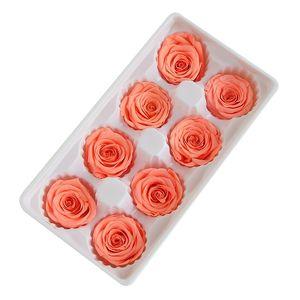 Preserved Flowers Flower Immortal Rose 2-3CM diameter mothers day gift Eternal Life Flower Material gift box 121 K2