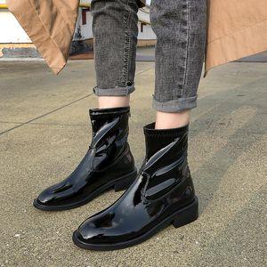 Luxury 2020 Women Designers Spring Autumn New Fashion Pu Leather Platform Shoes Women's Pumps High Heel CQF7