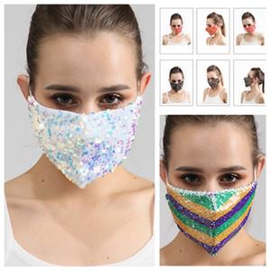 hot Pailletten-Gesichtsmaske Staubdichtes Mode Mund Masken Waschbar Wiederverwendbare Frauen Gesichtsmaske High Quality Designer Masken T2I51577