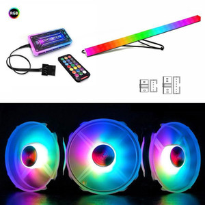PH2 Desktop Computer Of Rainbow RGB Silent Fan Controller With Additional LED Lights Colorful Color-changing Remote Controller1